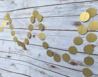 Wedding reception backdrop Paper Garland decor Pick your size, Bridal Shower, Summer Birthday Dinner Party 12ft Gold Garland Shimmery