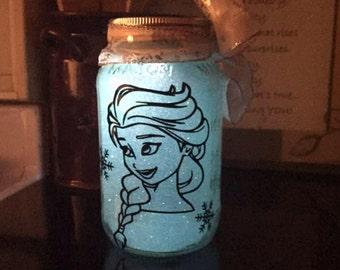 Elsa Solar Mason Jar Night light
