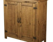 Rustic plank pine Furniture NEW Real Solid Wood Sideboard Dresser Base Cupboard Drawers and Doors Rustic Plank Sawn Pine Furniture