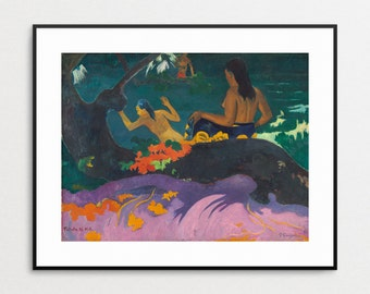 Paul Gauguin Print - Fatata te Miti - By the Sea - Fine Art Giclee Reproduction - Wall Art - Colorul - Tahitian - Summertime - Tropical