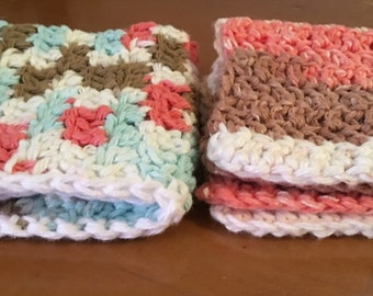 Cotton Crochet Washcloths