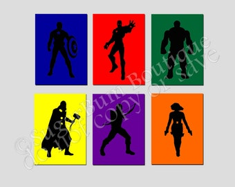 Avengers Wall Art Canvas (set of 6)