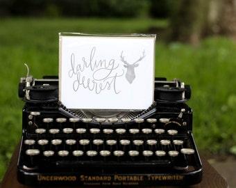 Darling Deerest Greeting Card