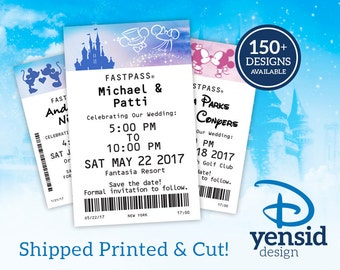 Fast Pass Wedding Save the Dates (CUT AND PRINTED! – Available as Magnets!)