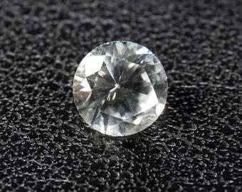 Natural White Sapphire, Round Brilliant, 0.67ct