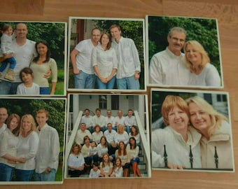 Set of 6 picture coasters