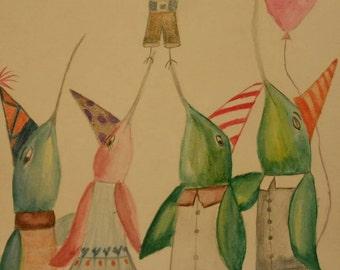 The Hummingbird Family Series:  Birthday Celebration!