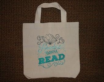 Tote Bag - Word Art (Reading) - Embroidered