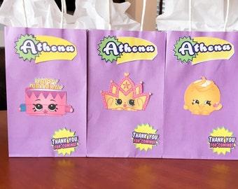 Custom Shopkins Gift Bags Favor Bags