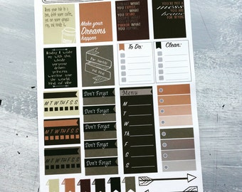 Fall Inspiration planner stickers