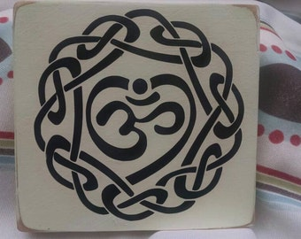 Om with intricate design