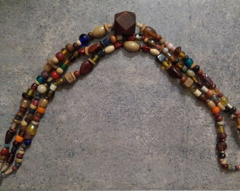 Glass and Wooden Necklace
