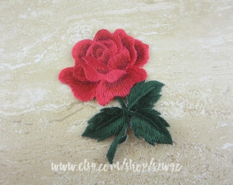 Rose Embroidery Patch Iron On