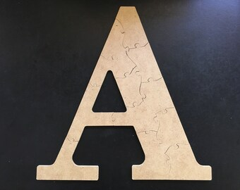 IN STOCK and ready to ship - Handmade Wooden Jigsaw Puzzle - Paint Your Own Puzzle - 12 Pieces - Letter A