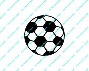 Soccer Ball svg, pdf, dxf, ai files - Digital Cut Files - Digital Clipart - Decal -  Cricut - Silhouette