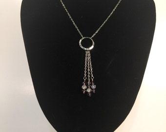 Purple Dangle Pendant Necklace