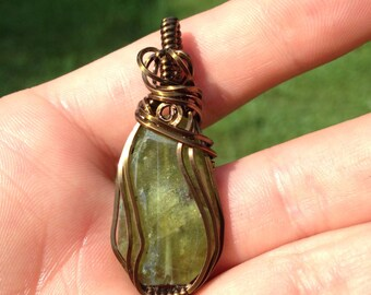 Green Garnet Pendant