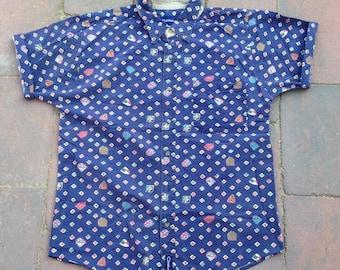 SALE - MENS   Vintage navy blue shirt   Size M/L - SALE