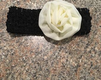 Baby Girl Headband Black/Cream
