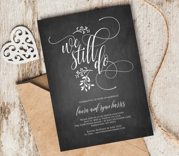 We Still Do Vow Renewal Invitation Template INSTANT DOWNLOAD