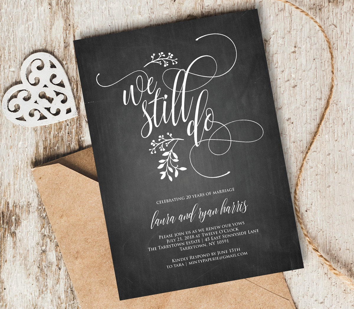 We Still Do Vow Renewal Invitation Template, INSTANT