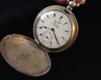 Longines Nacid  Pocket Watch in silver vintage '800 and keyway