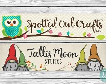 Custom Designed Etsy Cover Photo OOAK | New Etsy Banner Cover Layout | Graphic Design | Shop Branding and Marketing | Social Media Branding