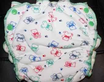Bears Medium Fitted Diaper