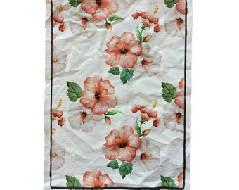 Dirty Old Canvas Flowers Pattern