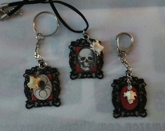 real vertebrae necklace and or keychain