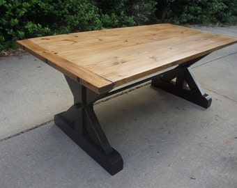 Farmhouse Table with Iron Bolt Hardware