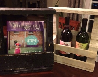 Pallet wine rack/ mail caddy