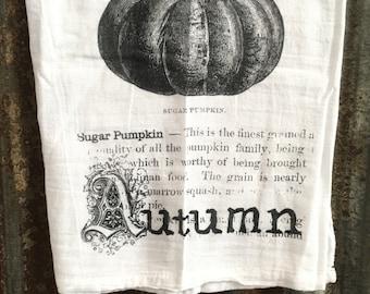 Sugar Pumpkin Definition Harvest Dish Towel Flour Sack Tea Towel