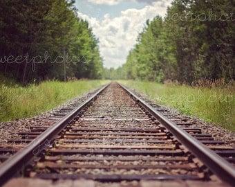 Digital Background Train Tracks