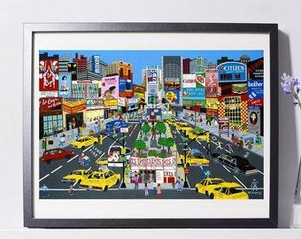Times Square Art Painting PSNY - Home Decor