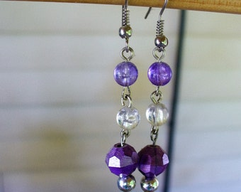 Handmade Earings with Silver Beads
