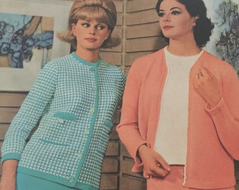 Vintage Patons Knitting Book #695 with TV designs 1960s