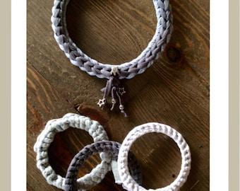 Choker and braided bracelets