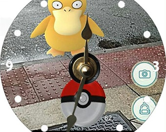 Pokemon Go Hunt and Find Game CD Clock