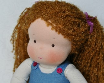 "Textile Waldorf ragdoll Michel 14,17"" (36 cm) MADE TO ORDER"