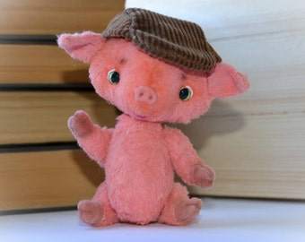 Pink pig handmade in teddy style