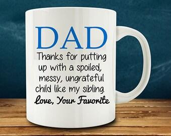 20% OFF SALE - Dad coffee mug, funny Dad mug, fathers day coffee mug (M821)