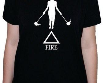 Fire Element Poi Fire Spinning t-shirt or racerback tank top