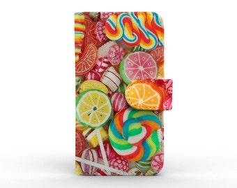 iphone 6s case detachable leather wallet for apple iphone 5 5s 5c 6 6s plus sweet candy lollipop