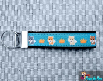 The Royal Shiba Prom Key Fob/Wristlet - 5 colors to choose from!