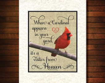 "11""x14"" Print - When A Cardinal Appears In Your Yard"