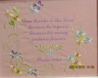 machine embroidered