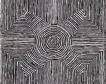 Aboriginal Lines Print