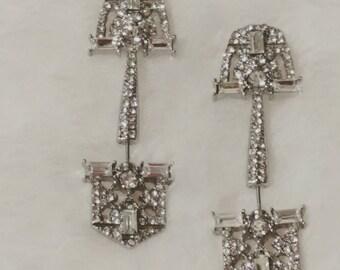 Bridal jewelry, Beyonce jewelry, rhinestone statement earrings, crystal earrings, mother's day gift, crystal statement earrings