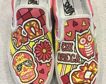 Custom Chi Omega Shoes